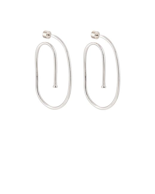 Jennifer Fisher - Metallic Large Pipe Hoop Earrings - Lyst