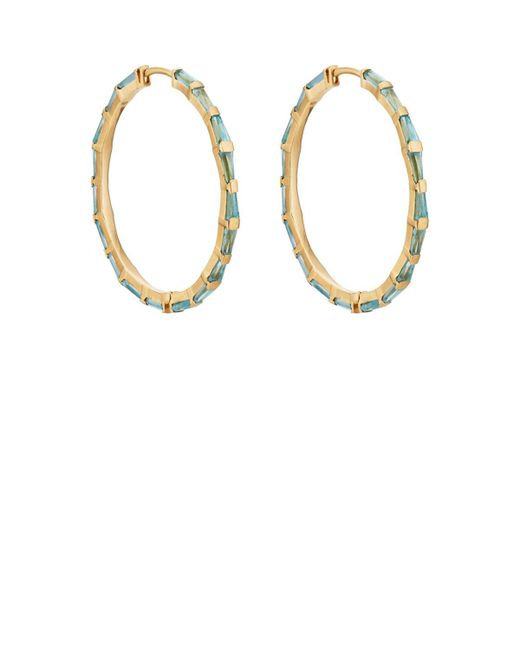 Nak Armstrong - Blue Hilvanado Stitch Hoop Earrings - Lyst