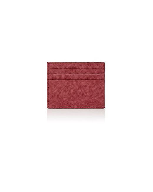 Prada   Red Leather Card Case   Lyst
