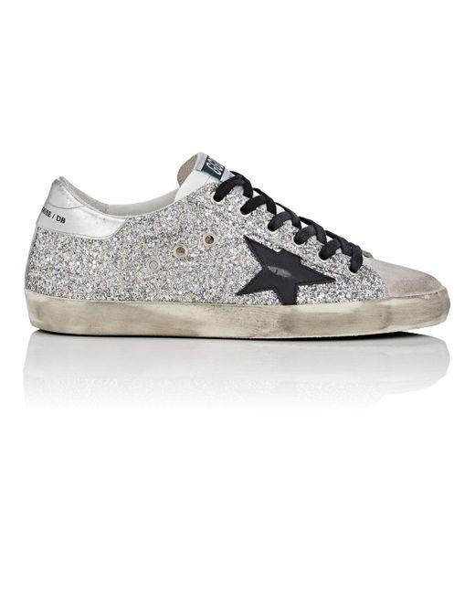 6e67bb606ff Golden Goose Deluxe Brand - Metallic Superstar Glitter Sneakers - Lyst ...