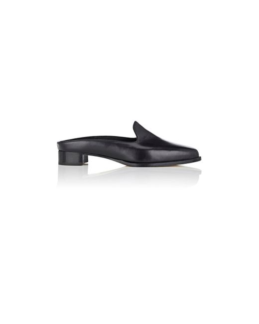Manolo Blahnik | Black Ezra Leather Mules | Lyst
