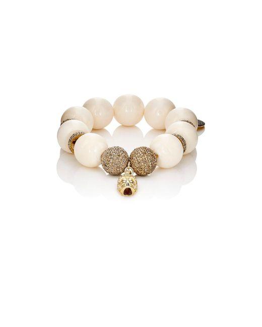 Carole Shashona | Metallic Golden Persephone Goddess Bracelet | Lyst