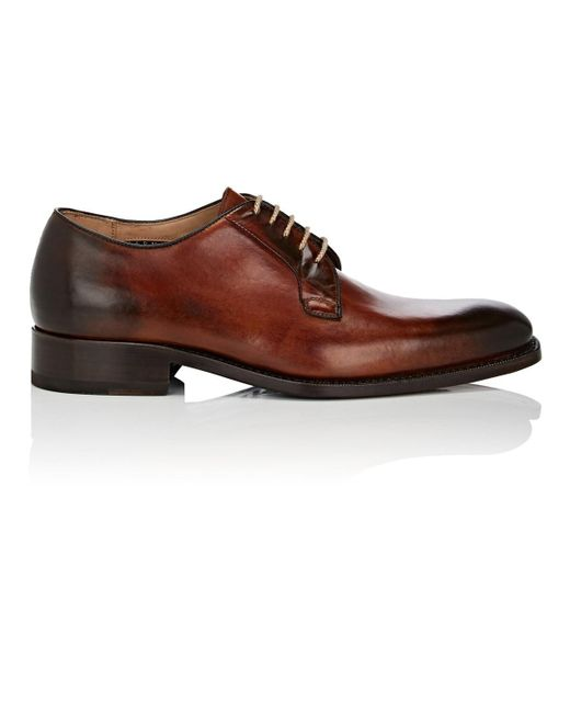 Harris - Brown Burnished Leather Bluchers for Men - Lyst