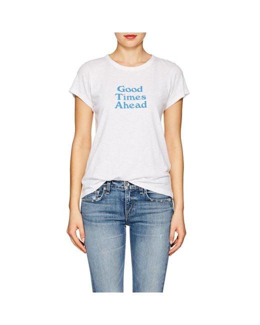 Rag & Bone - White good Times Ahead Cotton T-shirt - Lyst