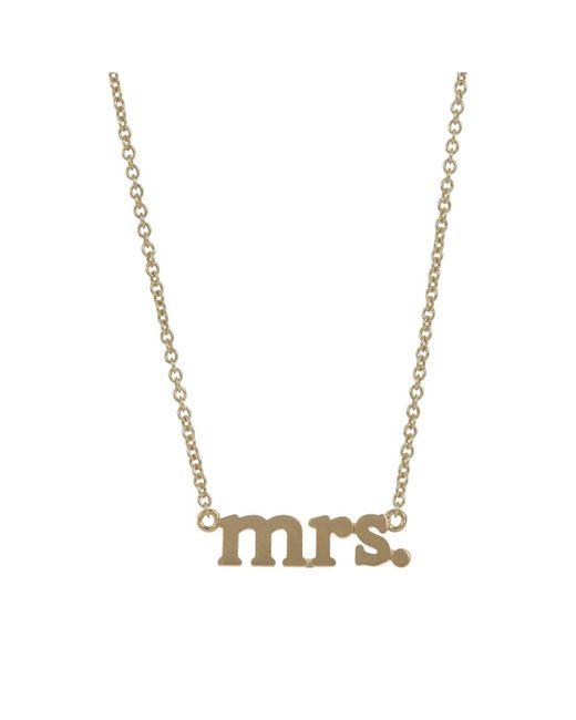 Jennifer Meyer - Metallic mrs. Pendant Necklace - Lyst