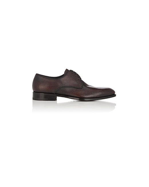 Ferragamo - Brown Charles Burnished Leather Bluchers for Men - Lyst