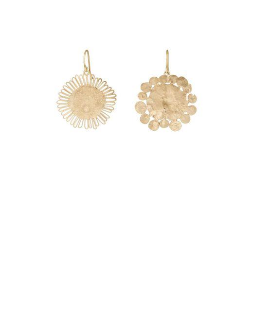 Judy Geib - Metallic Flowery Drop Earrings - Lyst