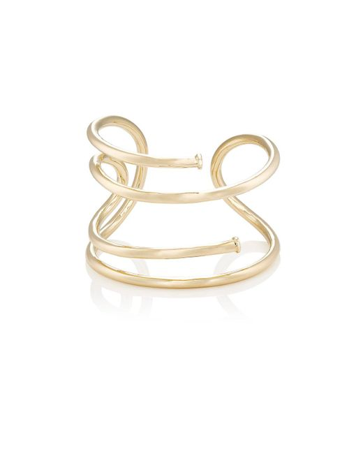 Jennifer Fisher | Metallic Large Pipe Cuff | Lyst