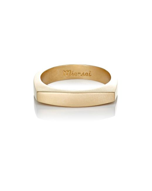 Miansai   Metallic Top Ring for Men   Lyst