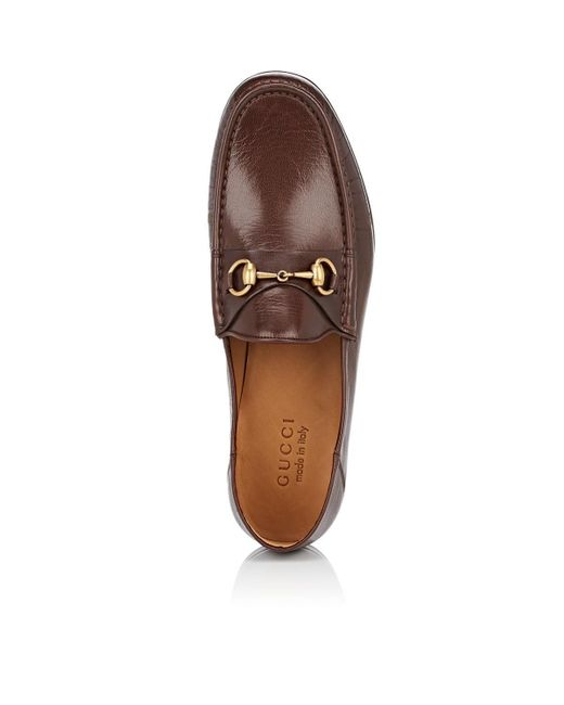 4a188222708 ... Gucci - Brown Horse-bit Leather Loafers for Men - Lyst ...