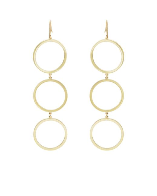 Jennifer Meyer | Metallic Open Heart Triple | Lyst