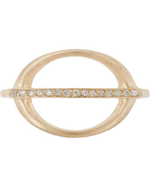 Jennie Kwon   Metallic Pavé Diamond & Gold Ring   Lyst