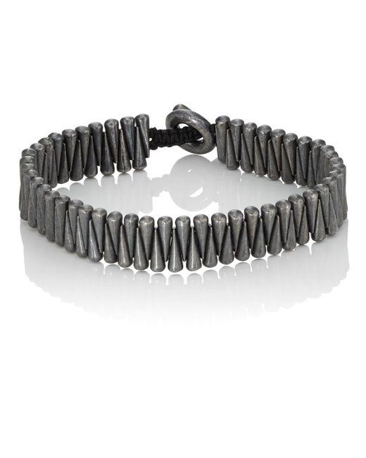 M. Cohen - Black Sterling Silver Cone Bracelet for Men - Lyst