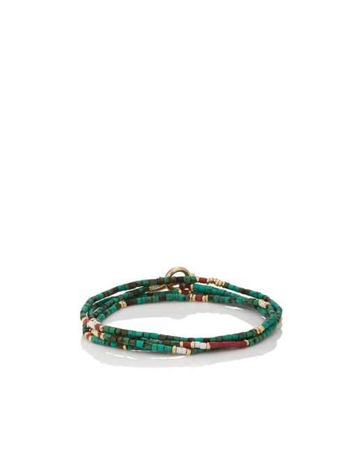 M. Cohen - Green Afghan Bead Wrap Bracelet for Men - Lyst