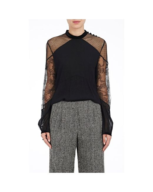 A.L.C. - Black Laurel Combo Blouse - Lyst