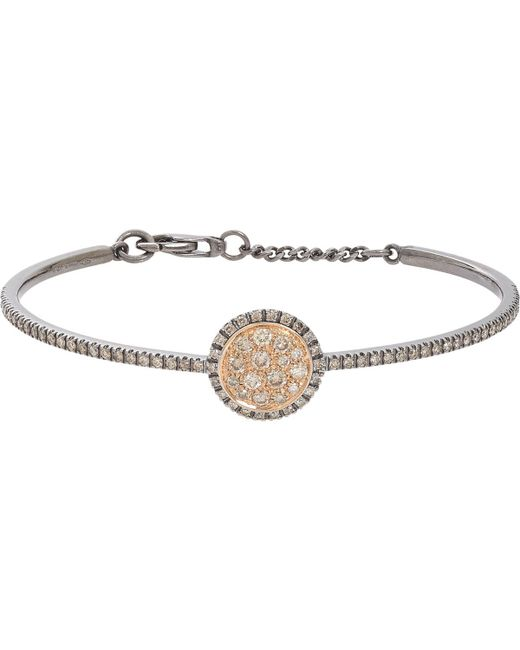 Roberto Marroni - Metallic Brown Diamond, Oxidized White Gold & Pink Gold Bracelet - Lyst