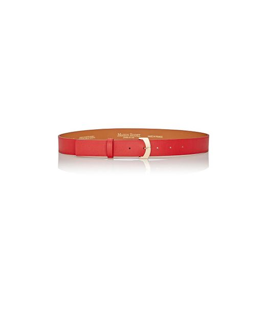Maison Boinet | Red Nappa Leather Belt | Lyst
