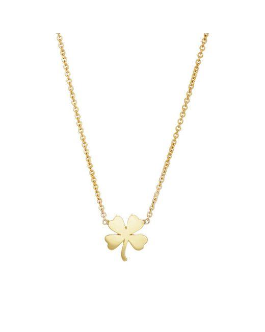 Jennifer Meyer | Metallic Clover Charm Necklace | Lyst