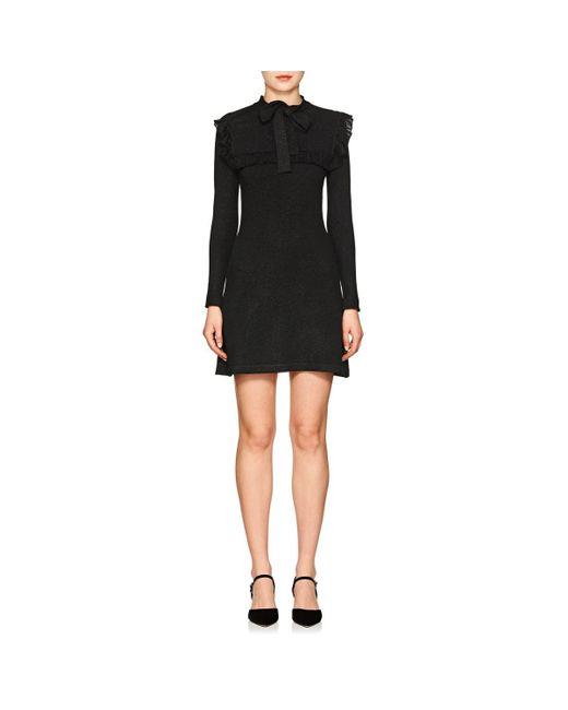 Joos Tricot | Black Metallic Knit Fitted Dress | Lyst