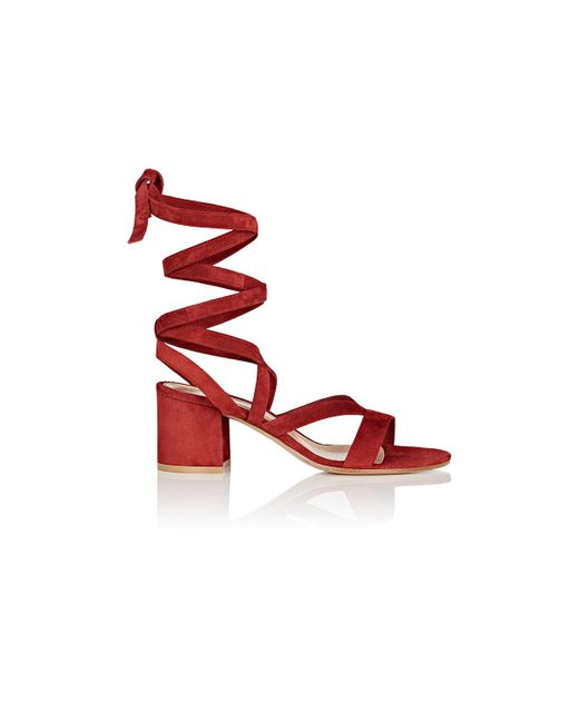 Gianvito Rossi - Red Janis Low Sandals - Lyst