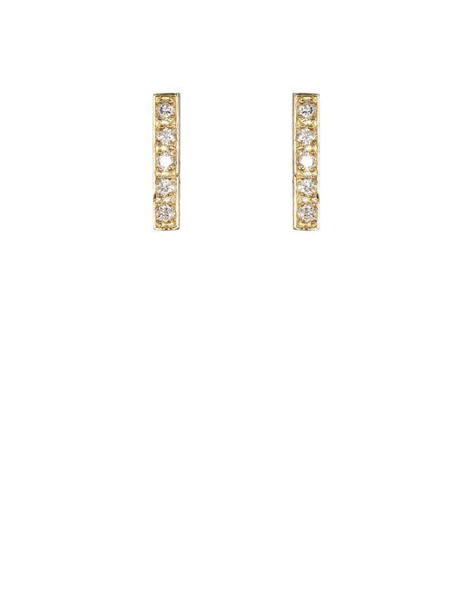 Jennifer Meyer - Natural Bar Stud Earrings - Lyst