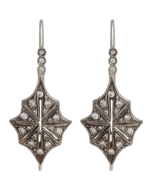 Cathy Waterman - Metallic Star Drop Earrings - Lyst