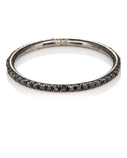 Ileana Makri - Gray Black Diamond Threadband - Lyst