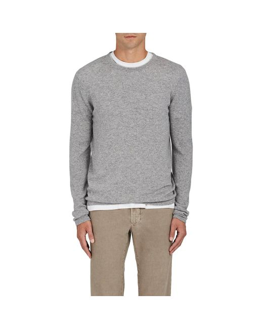 Barneys New York - Gray Fine-gauge Knit Cashmere Sweater for Men - Lyst