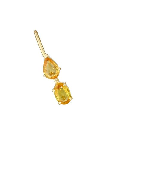Ileana Makri   Metallic Yellow Sapphire Ear Pin   Lyst