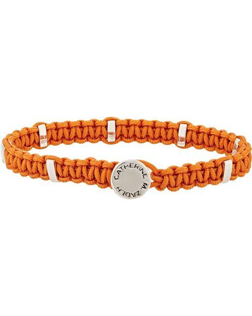 Zadeh - Orange Macramé Bracelet for Men - Lyst