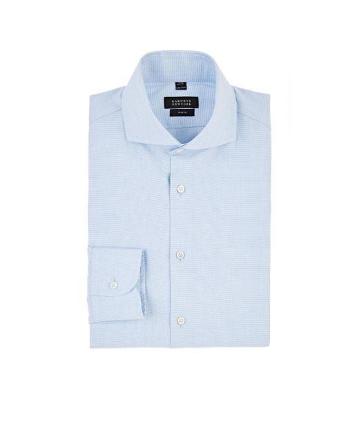 Barneys New York - Blue Striped Cotton Trim Dress Shirt for Men - Lyst