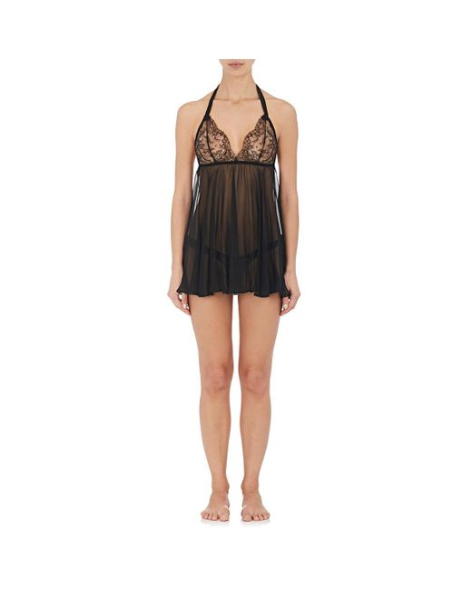 Womens Ava Lace & Silk Halter Babydoll Gilda & Pearl qv7zLy6s7