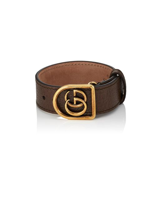 Gucci - Brown Marmont Leather Bracelet for Men - Lyst