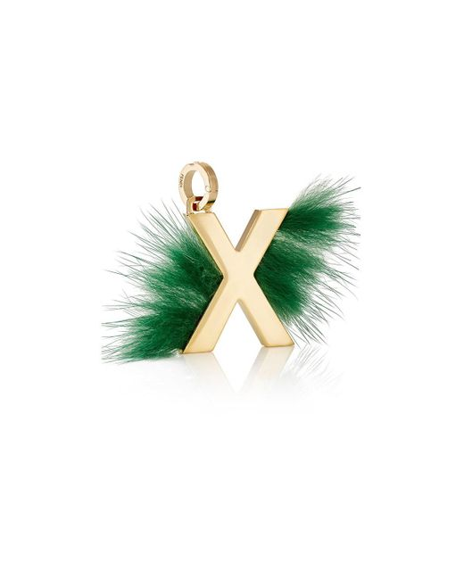 Fendi | Metallic Abclick X Bag Charm | Lyst