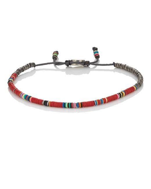 M. Cohen - Red Rondelle Bracelet for Men - Lyst