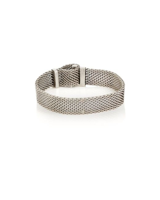 Title Of Work - Metallic Adjustable Macro-mesh Bracelet for Men - Lyst