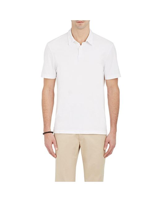 James Perse - White Jersey Polo Shirt for Men - Lyst