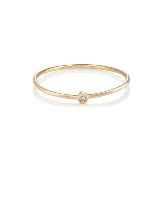 Jennifer Meyer - Metallic Diamond Thin Ring - Lyst