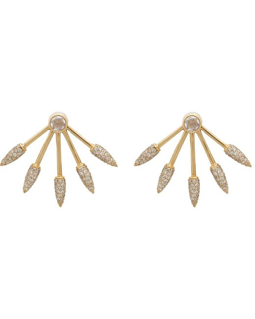 Pamela Love - Metallic Five Spike Earrings - Lyst