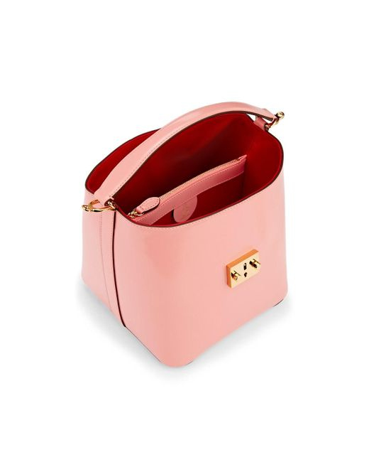 88db891d371a ... Mark Cross - Pink Murphy Small Leather Bucket Bag - Lyst ...