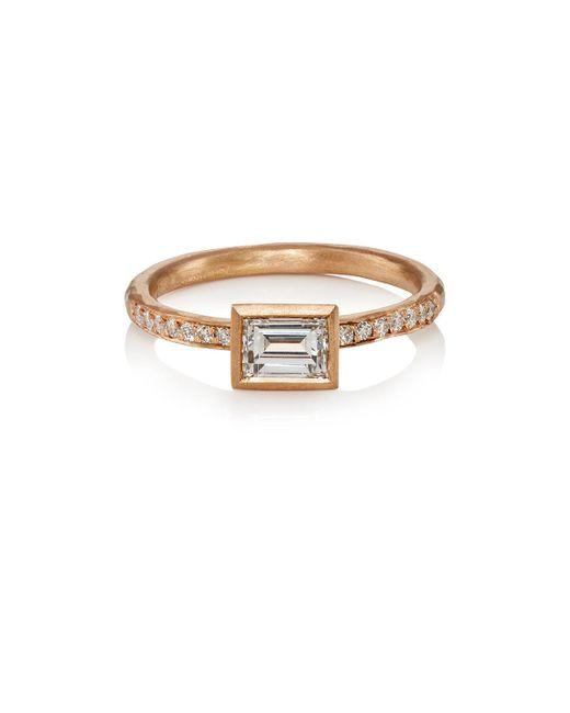 Malcolm Betts - Metallic White Diamond & Rose Gold Ring - Lyst