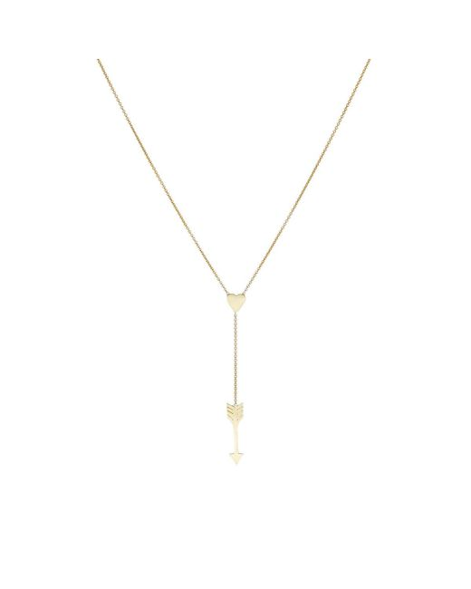 Jennifer Meyer | Metallic Heart & Arrow Charm Y | Lyst