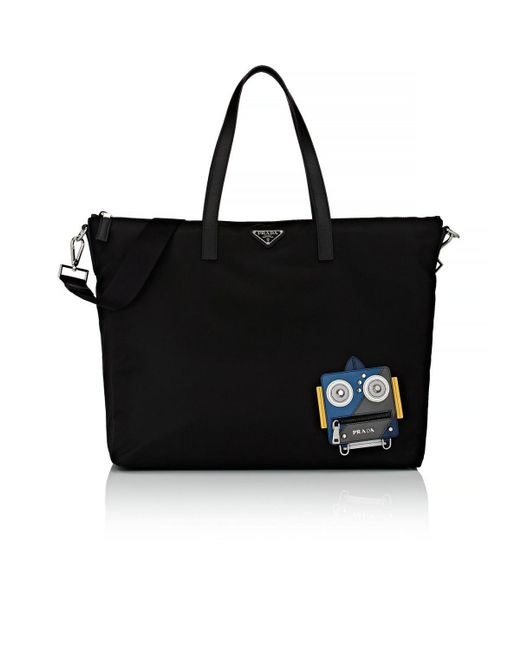 Prada - Black Robot Tote Bag for Men - Lyst