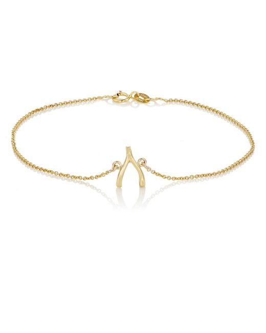 Jennifer Meyer - Metallic Wishbone Charm Bracelet Size Os - Lyst