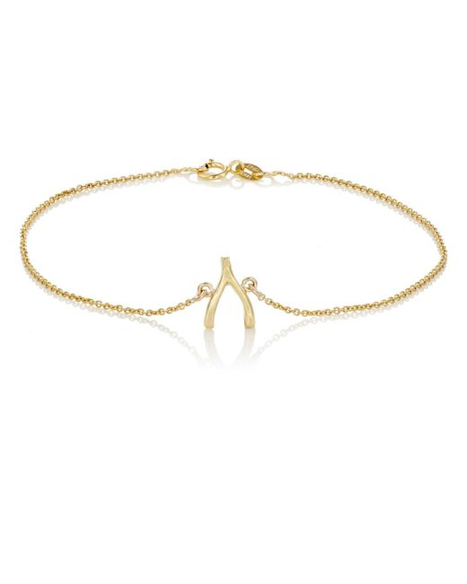 Jennifer Meyer | Metallic Wishbone Charm Bracelet | Lyst