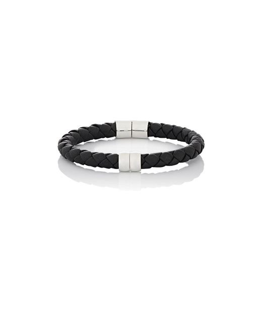 Bottega Veneta - Black Leather Hinged Bracelet - Lyst