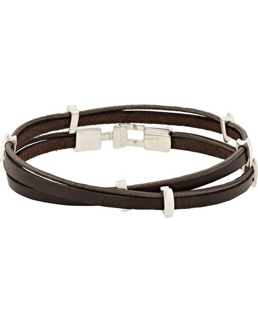 Zadeh | Brown Eitan Wrap Bracelet for Men | Lyst