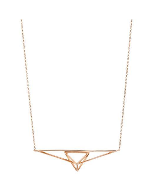 Monique Péan | Metallic Rose Gold Geometric Pendant Necklace | Lyst