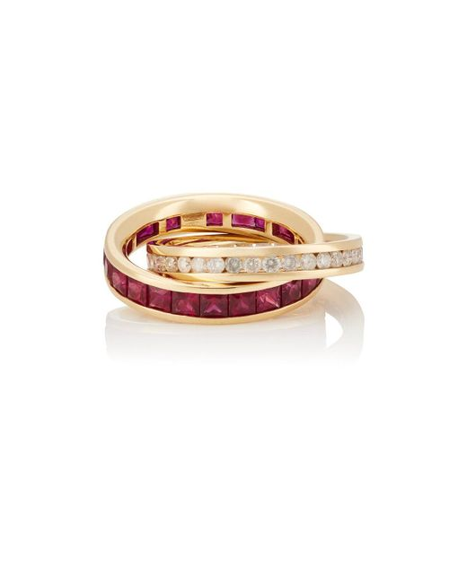 Roberto Marroni | Metallic Carre Ring | Lyst