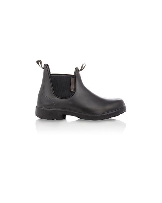 2c22296acfdd2 Lyst - Barneys New York Rubber Chelsea Boots in Black for Men - Save 17%